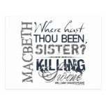 Macbeth Killing Swine Quote Postcard