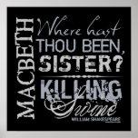 Macbeth Killing Swine Quote Poster