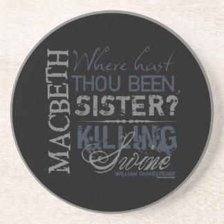 Macbeth Killing Swine Quote Sandstone Coaster