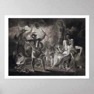 Macbeth, las tres brujas y Hecate en el acto IV, S Póster