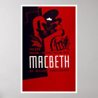 Macbeth Negro Theatre 1937 WPA Poster