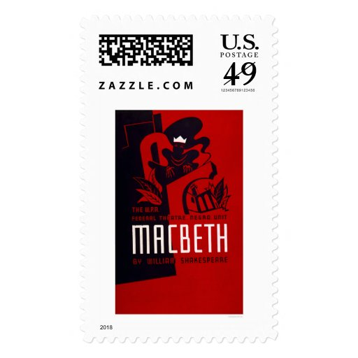 Macbeth Negro Theatre 1937 WPA Stamp
