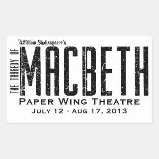 Macbeth - Paper Wing Theatre - Stickers