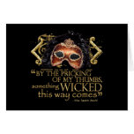 """Macbeth """"Something Wicked"""" Quote (Gold Version) Cards"""