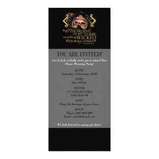 """Macbeth """"Something Wicked"""" Quote (Gold Version) Card"""