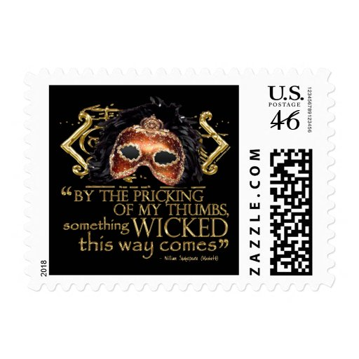 """Macbeth """"Something Wicked"""" Quote (Gold Version) Stamps"""