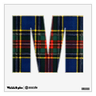 Macbeth tartan alphabet wall decals