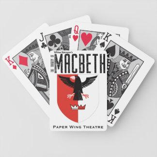 Macbeth - teatro de papel del ala - naipe baraja de cartas bicycle