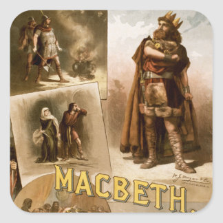 Macbeth, the Play 1884 Stickers