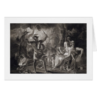 Macbeth, the Three Witches and Hecate in Act IV, S Card