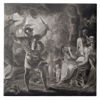 Macbeth, the Three Witches and Hecate in Act IV, S Tile