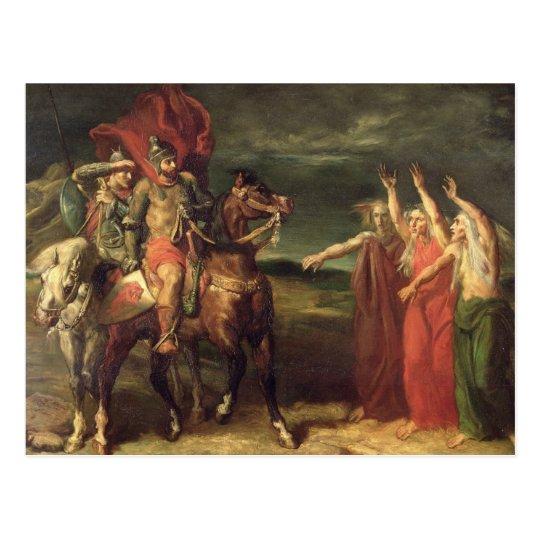 Macbeth y las tres brujas, 1855 postal