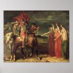Macbeth y las tres brujas, 1855 posters
