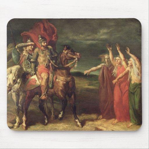 Macbeth y las tres brujas, 1855 tapetes de raton