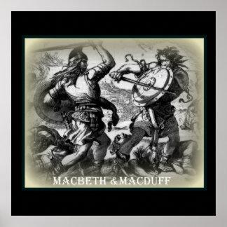 Macbeth y Macduff /wallposter Poster