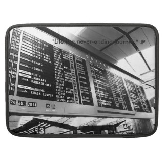 "Macbook 15"" Sleeve with black & white photo"