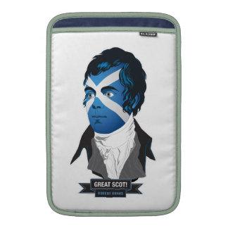 Macbook Air 11 sleeve. Robert Burns, a Great Scot! MacBook Sleeves