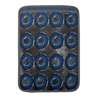 Macbook Air Blue and Black Pattern MacBook Sleeve