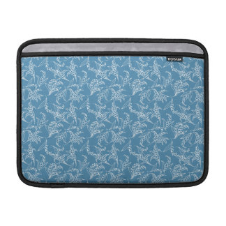 MacBook Air Sleeve: Lilies of the Valley, Blue Sleeve For MacBook Air