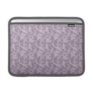 MacBook Air Sleeve: Lilies of the Valley, Mauve Sleeve For MacBook Air