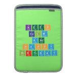 KEEP CALM AND HAPPY BIRTHDAY  MacBook Air sleeves