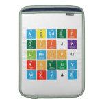 Abcdef ghijk lmnopq rstuv wxy&z  MacBook Air sleeves