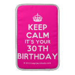 [Crown] keep calm it's your 30th birthday  MacBook Air sleeves