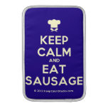 [Chef hat] keep calm and eat sausage  MacBook Air sleeves