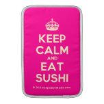 [Crown] keep calm and eat sushi  MacBook Air sleeves