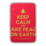 [Xmas tree] keep calm and make peace on earth  MacBook Air sleeves