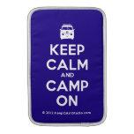 [Campervan] keep calm and camp on  MacBook Air sleeves