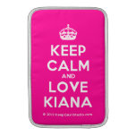 [Crown] keep calm and love kiana  MacBook Air sleeves