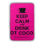 [Cup] keep calm and drink hot cocoa  MacBook Air sleeves