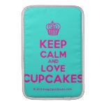 [Cupcake] keep calm and love cupcakes  MacBook Air sleeves