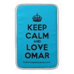[Crown] keep calm and love omar  MacBook Air sleeves