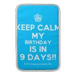 [Cupcake] keep calm my birthday is in 9 days!!  MacBook Air sleeves