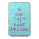 [Cupcake] keep calm and bake cupcakes  MacBook Air sleeves