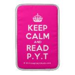 [Crown] keep calm and read p.y.t  MacBook Air sleeves