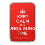 [Crown] keep calm it's bunga bunga time  MacBook Air sleeves