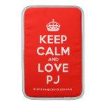 [Crown] keep calm and love pj  MacBook Air sleeves