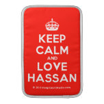 [Crown] keep calm and love hassan  MacBook Air sleeves
