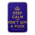 [Dancing crown] keep calm and don't give a fuck  MacBook Air sleeves