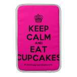 [Cupcake] keep calm and eat cupcakes  MacBook Air sleeves
