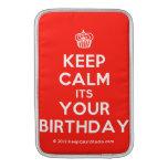 [Cupcake] keep calm its your birthday  MacBook Air sleeves
