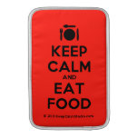 [Cutlery and plate] keep calm and eat food  MacBook Air sleeves
