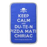 [Skull crossed bones] keep calm and du-te-n pizda matii chiriac  MacBook Air sleeves