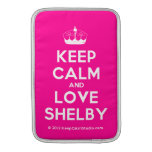 [Knitting crown] keep calm and love shelby  MacBook Air sleeves