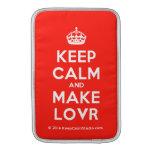 [Crown] keep calm and make lovr  MacBook Air sleeves