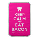 [Chef hat] keep calm and eat bacon  MacBook Air sleeves