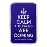 [Crown] keep calm the twins are coming  MacBook Air sleeves